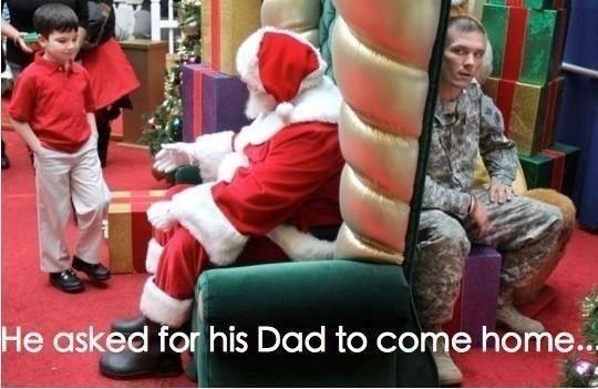 Santa daddy to be home