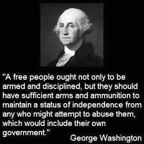 armed peop[le george washington