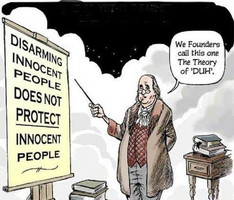 franklin on guns