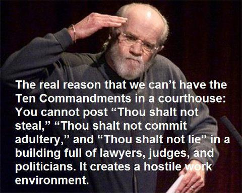 ten commandments hostile work environment