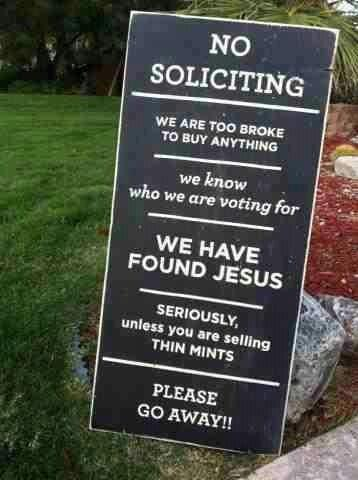 NO SOLICITING II