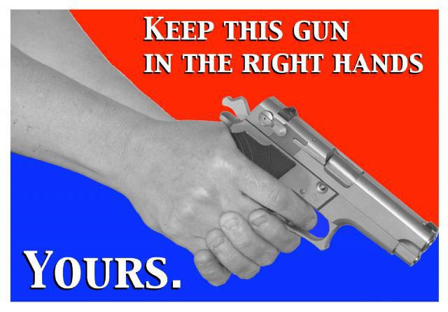 keep gun in hands