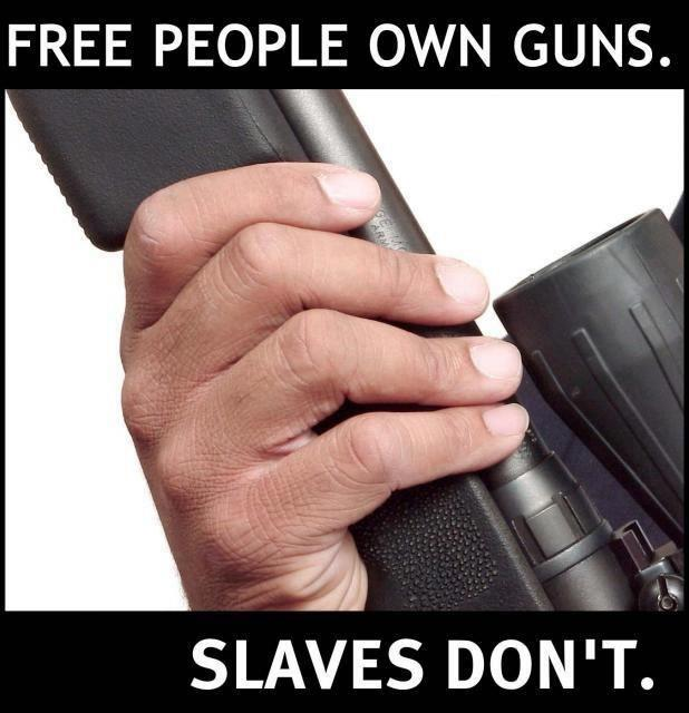 slaves don't own guns