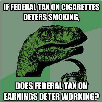 taxes deter working