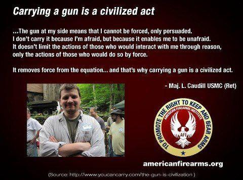 carrying gun is civilized