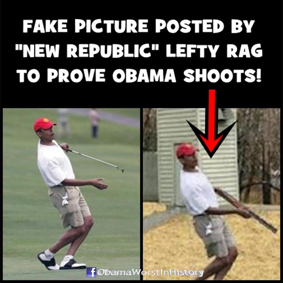 fake obama shooting