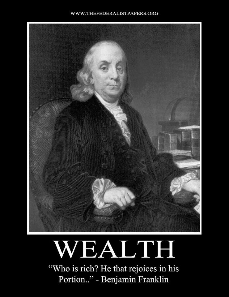franklin on wealth