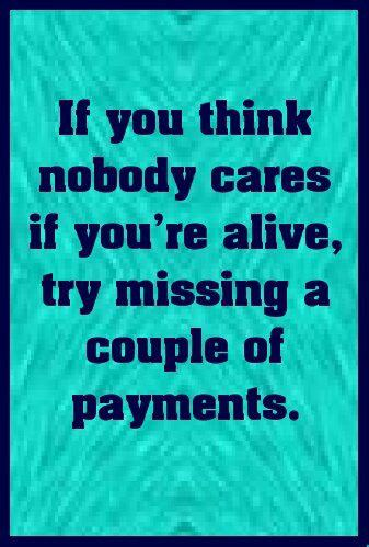 missing payments'