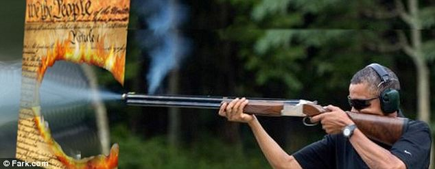 obama shoots constitution