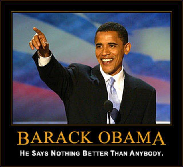 Obama says nothing