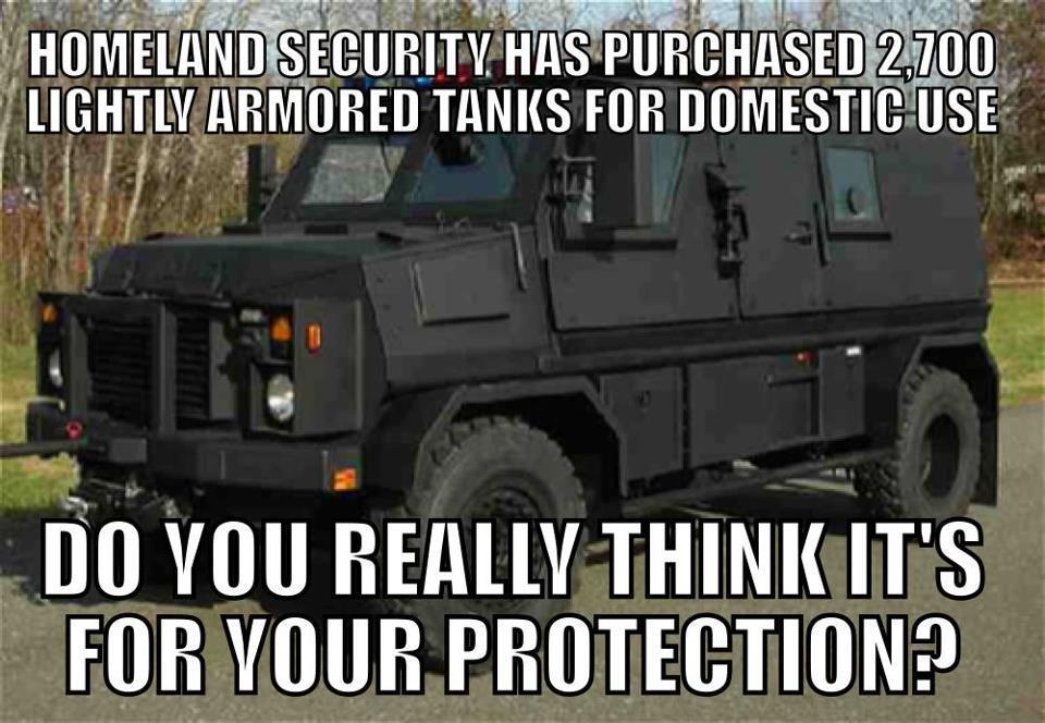 dhs armored vehicles