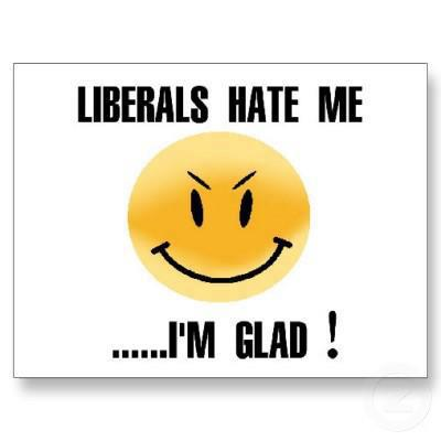 liberals hate me