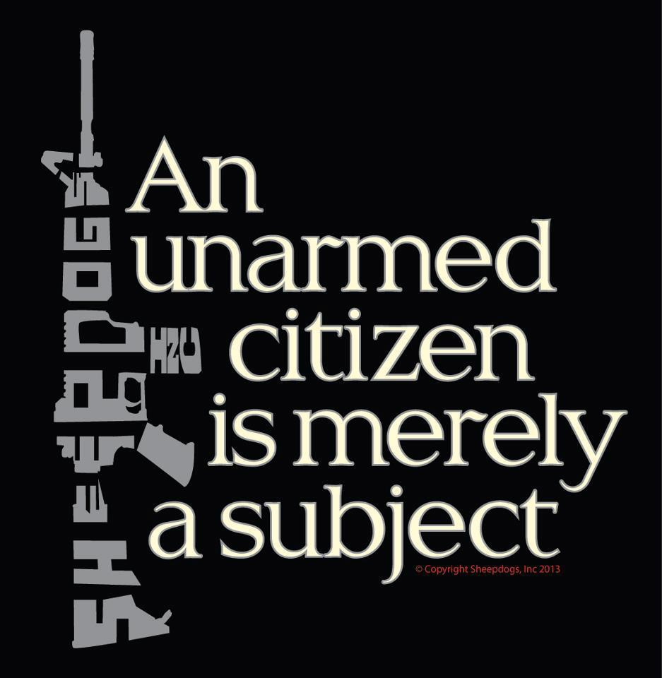unarmed subject