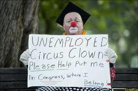 unemployed clown