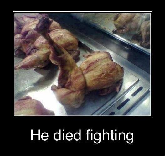 he died fighting