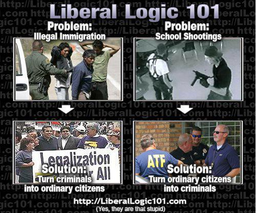 shootings vs illegal immigration