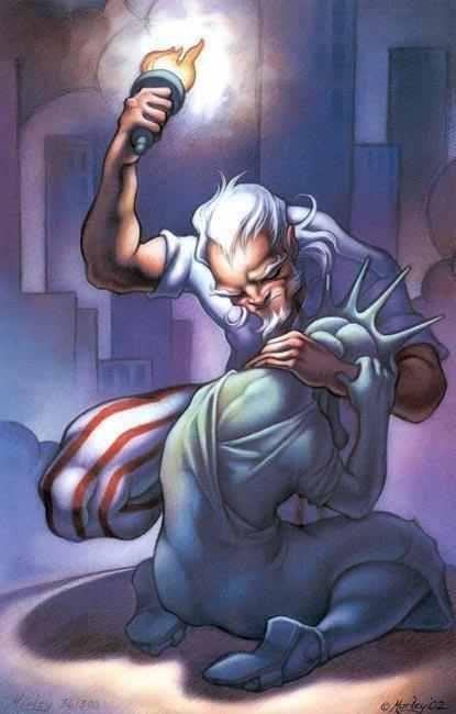 uncle sam consoling lady liberty