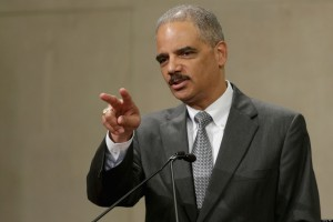 Eric Holder Attends Awards Ceremony At Justice Department