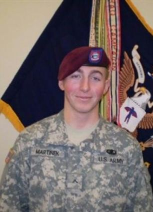 Private First Class Matthew Michael Martinek, 20, also died after a rocket-propelled grenade ambush on September 4, 2009