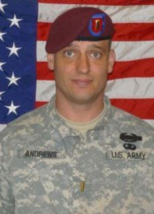 Second Lieutenant Darryn Andrews, 34, died after a rocket-propelled grenade ambush on September 4, 2009