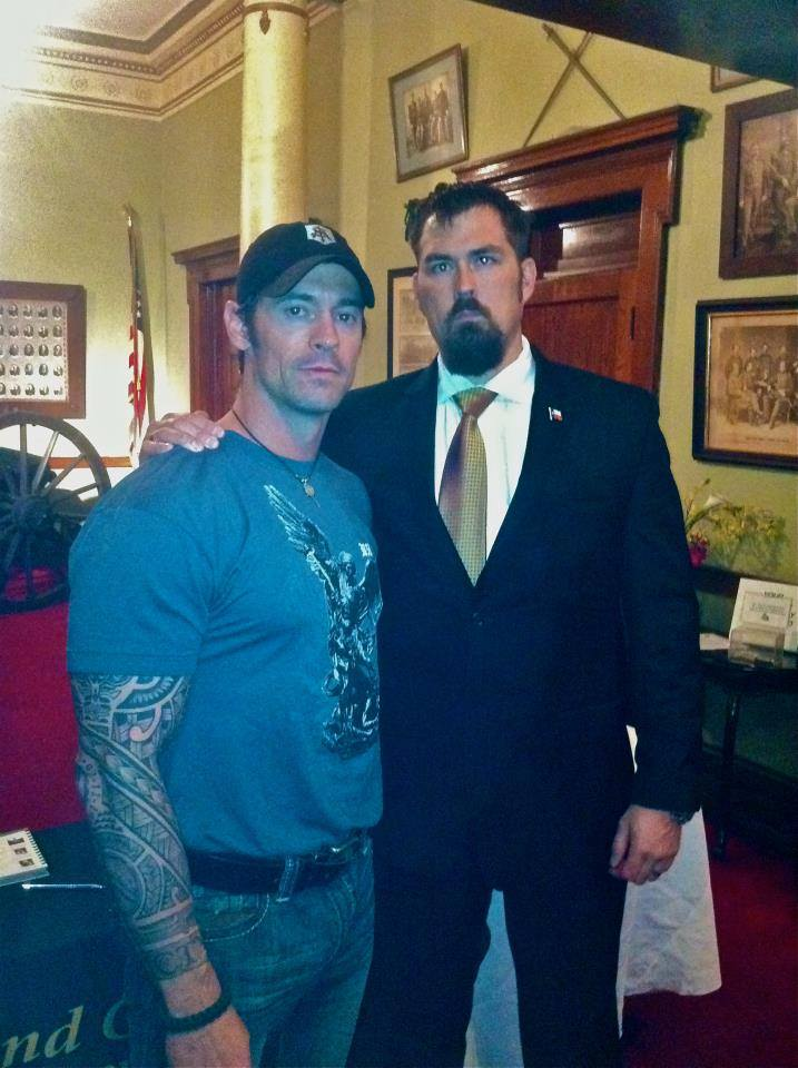 Christopher Mark Heben with Marcus Luttrell - Two Genuine American Heroes