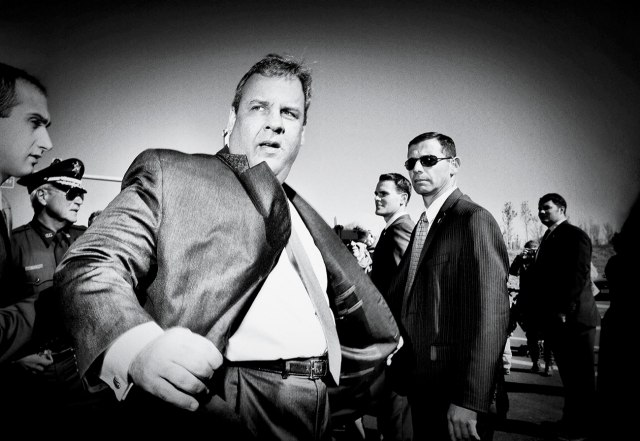 chris christie black and white