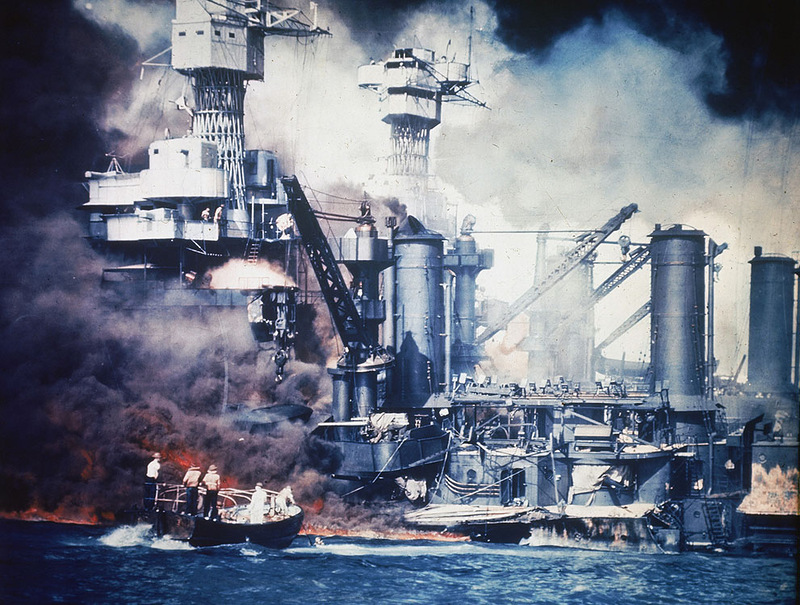 Awesome Color Photos of the Attack on Pearl Harbor (8)
