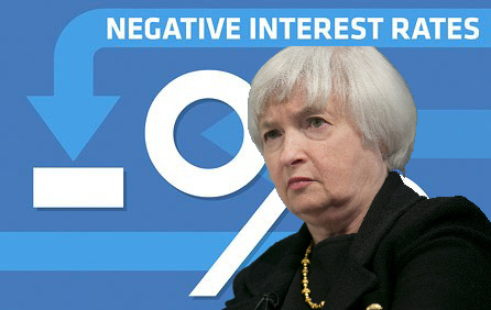 janet yellen negative interest rates