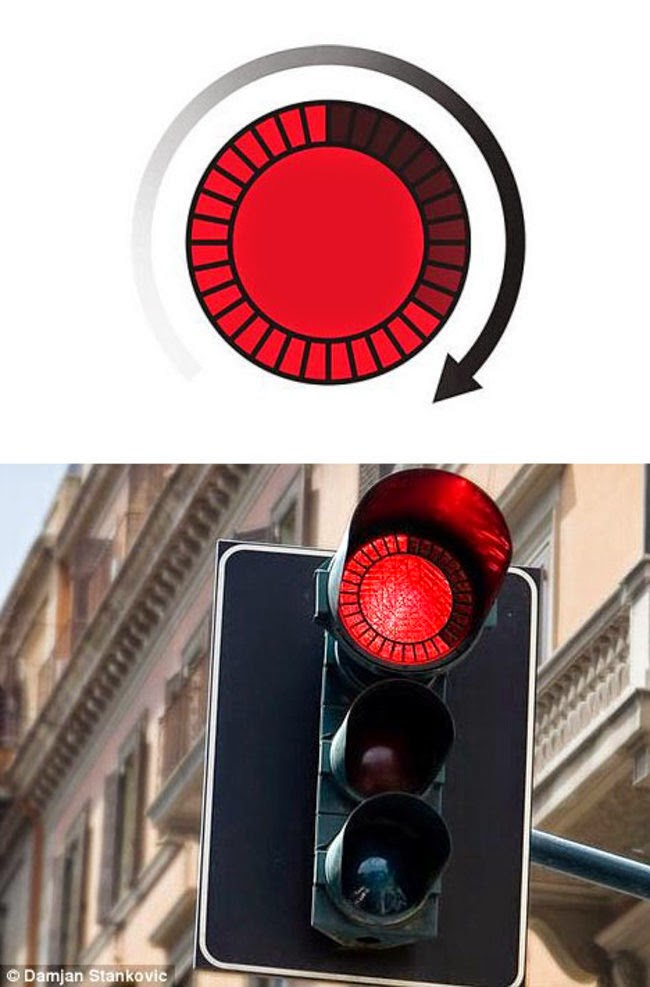 stop lights with countdown timers