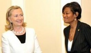 Hillary Clinton and Cheryl Mills her chief of staff