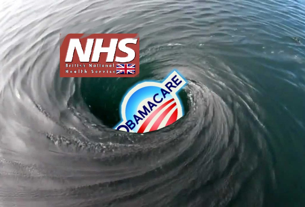 nhs and obamacare circling the drain