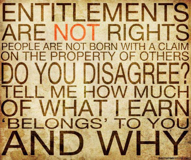 entitlements are not rights