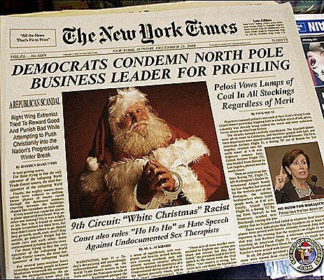 santa targeted by liberals