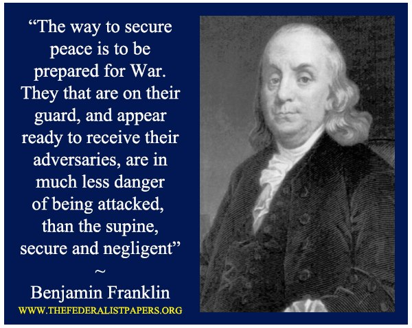franklin on peace