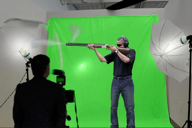 obama gun green screen
