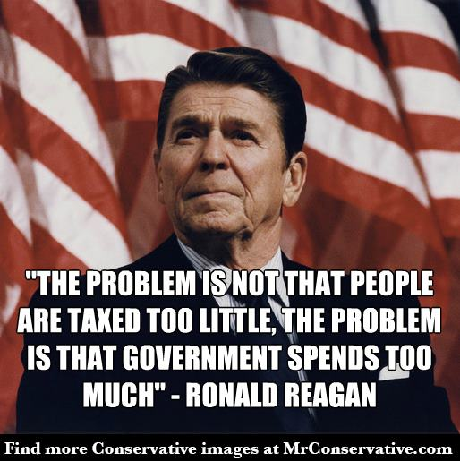reagan government spends too much