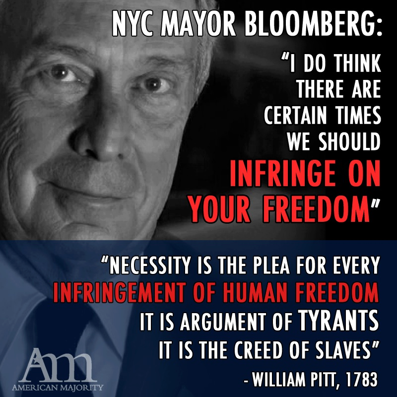 bloomberg infringe on freedom