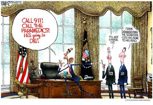 exaggerrating the sequester