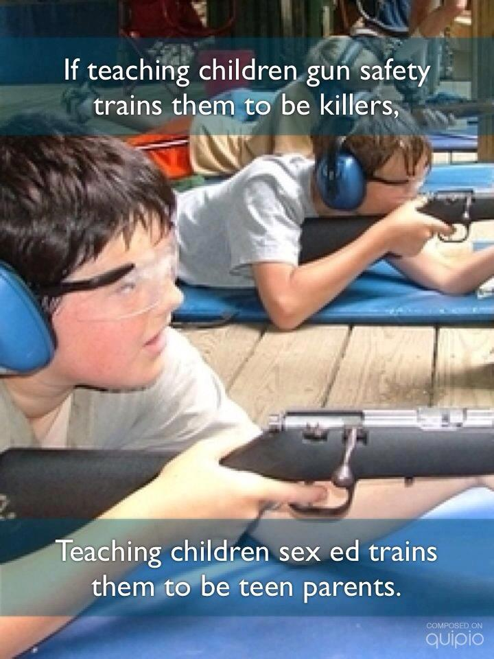 guns teach children