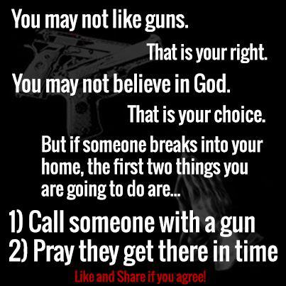 pray for guns