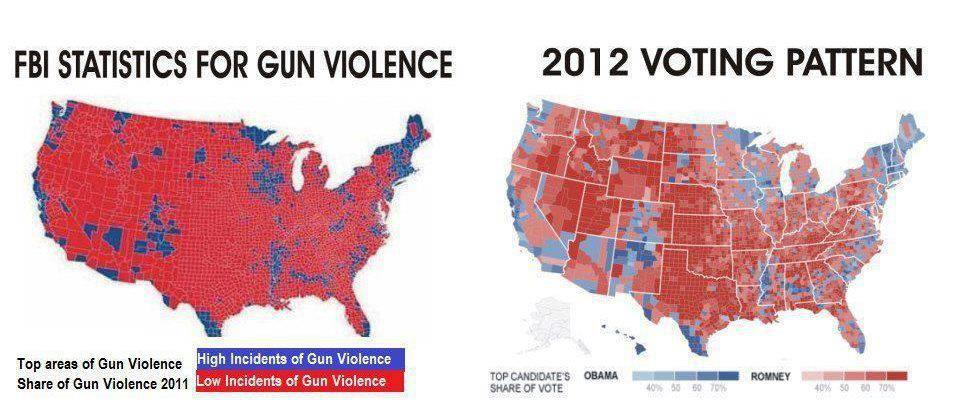 gun violence vs voting patterns