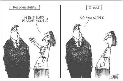 responsibility vs greed