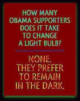 obama supporters in the dark