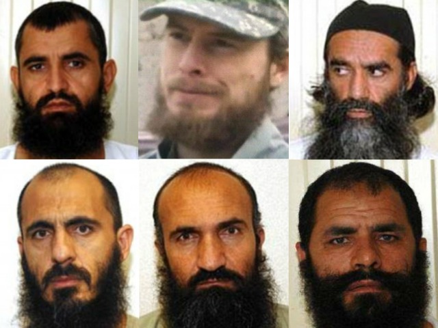 bergdahl, taliban five collage