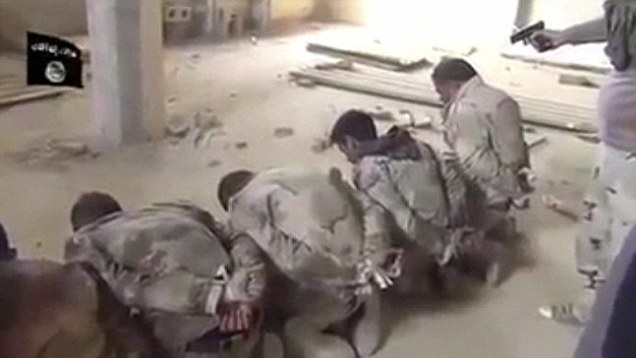 ISIS Terrorist Executing Syrian Soldiers