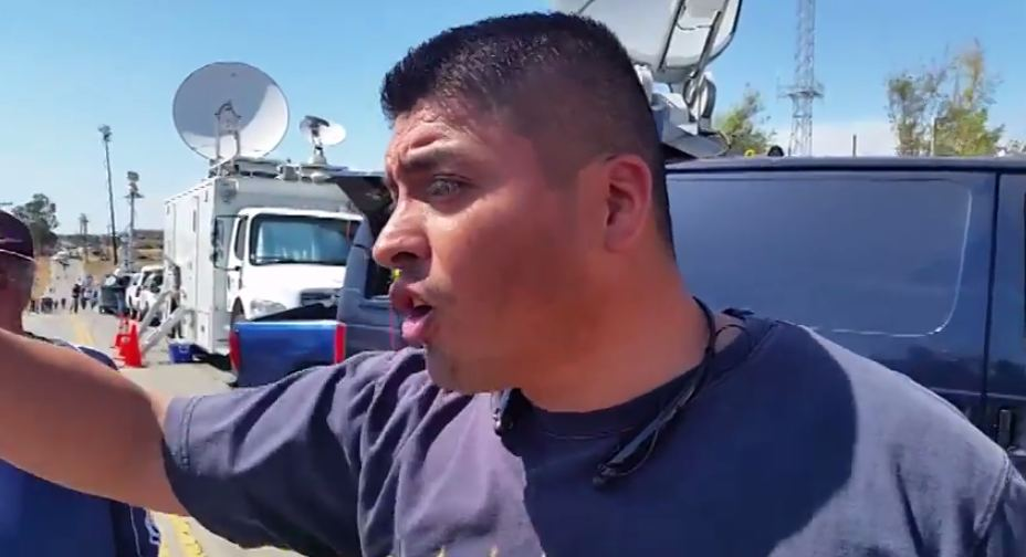former Marine confronts open borders people
