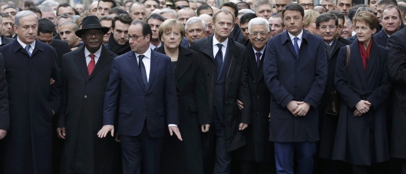 Paris Unity Rally_Obama, Biden, Kerry or  Holder DO NOT ATTEND