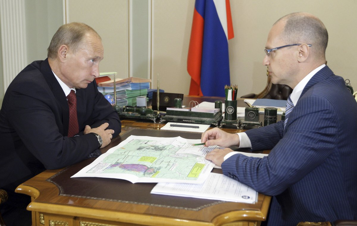 Putin with Sergei Kiriyenko, the chief of the Russian state nuclear corporation in 2010