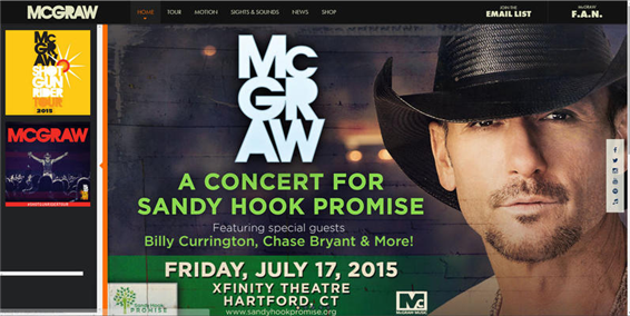 tim mcgraw to do benefit for gun control goup